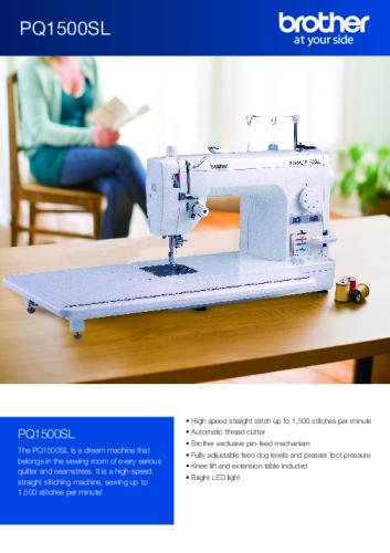 PQ1500SL Brochure